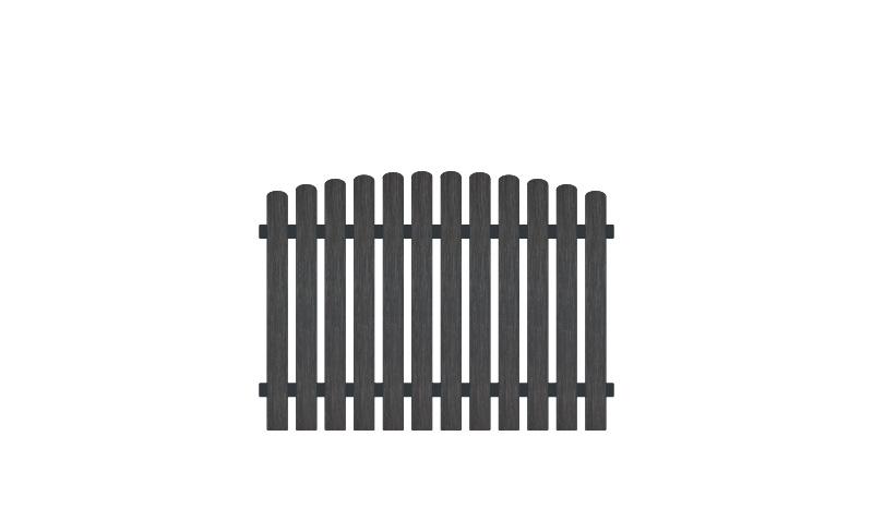 Vollkunstofflatten und Aluminiumquerriegel, 180 x 120 auf 130 cm, anthrazit (RAL 7016), Edelstahl verschraubt, inkl. Montageset und Bohrer