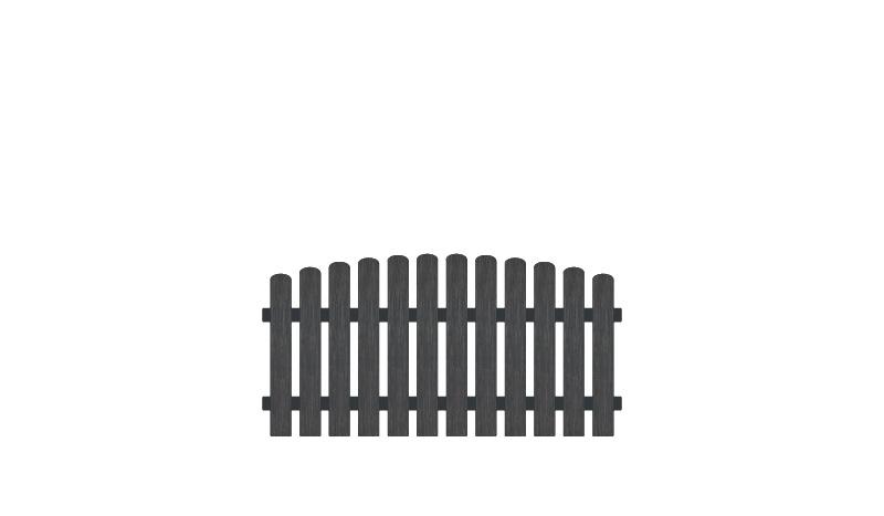 Wetterfester Gartenzaun aus Kunststoff. 180 x 80 auf 90 cm, anthrazit (RAL 7016), Edelstahl verschraubt, inkl. Montageset und Bohrer