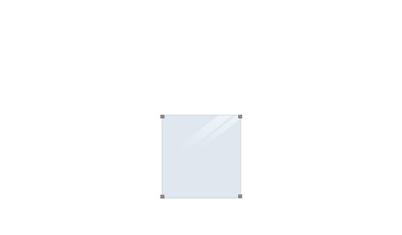 Die Glaszaunserie San Sebastian I zeichnet sich durch ein edles Design aus. Das 6mm gehärtete klare Glas ist in dem Maß 90 x 91 cm.