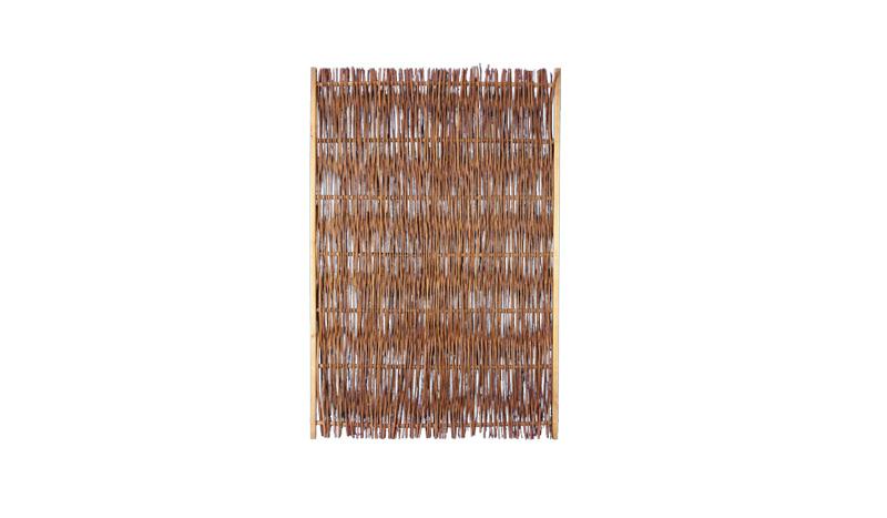 Weidenflechtzaun aus Kiefernholz mit einem Maß von 120 x 180 cm