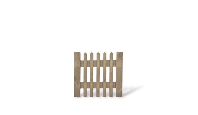 Senkrechtzaun Einzeltor aus imprägnierter Fichte in den Maßen 100x100cm.