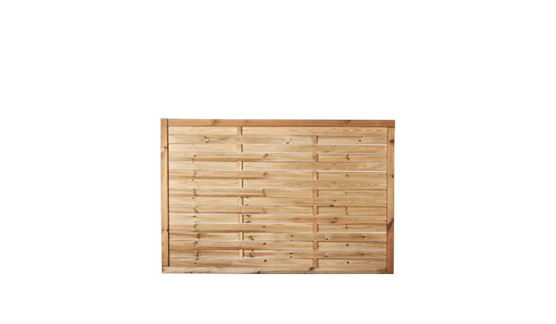 Ein Zaun mit einer Maschenweite von 10 x 10cm und eienm Maß  von: 180 x 120cm aus der Serie Lamellenzaun