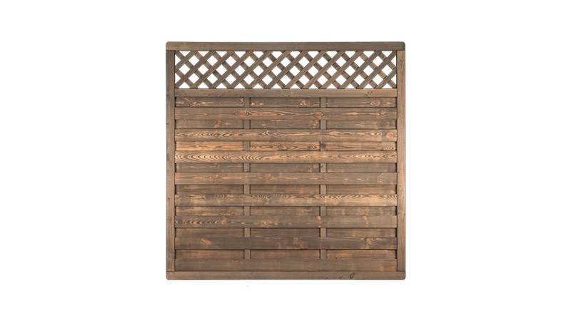 Die Sichtschutzwand Altmühl aus Holz in den Maßen: 180 x 180 cm