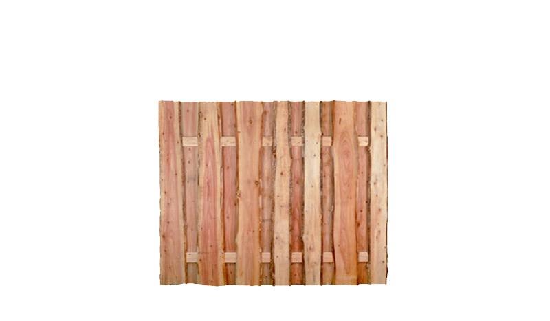 Der Holz Zaun mit einer Breite von 180 cm und einer Höhe von 150 cm - die rustikalen Lärchenbretter sorgen für eine lange Haltbarkeit und einen natürlichen Look