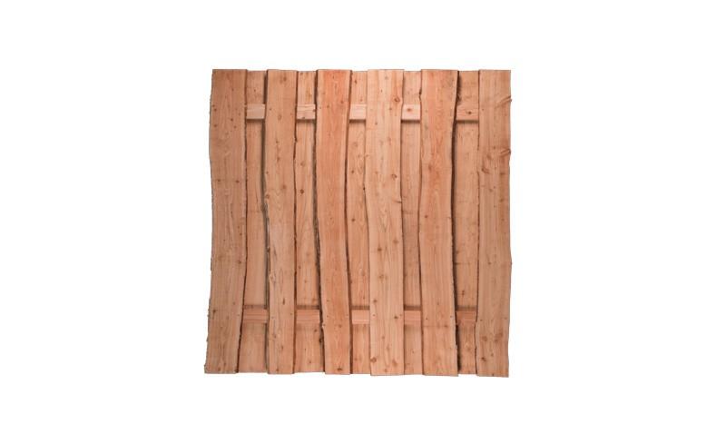 Der 180 x 180 cm Holz Zaun Dresden aus 20 mm starken Lärchenzaunbrettern im rustikalen Design