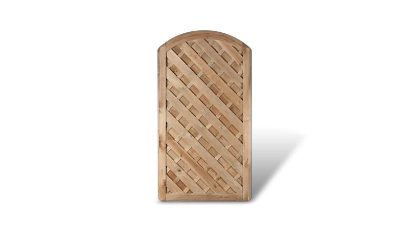 Das passende Holztor zu der Berlin Diagonal Serie mit einem Maß von 100 x 180 auf 160cm