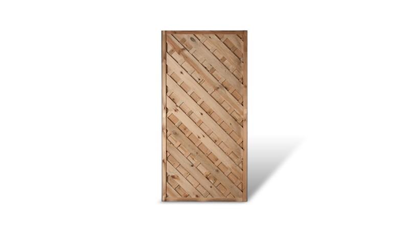 Ein dekoratives Zwischenelement aus druckimprägniertem Holz und einem Maß von 90 x 180cm