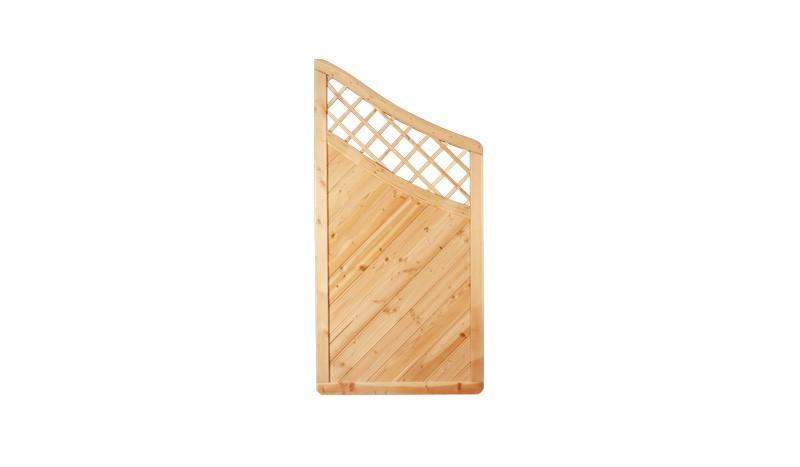 Ein Zaunabschluß der Serie Taunus mit einer Rahmenstärke von 40 x 68 mm und dem Maß: 90 x 180 auf 90cm