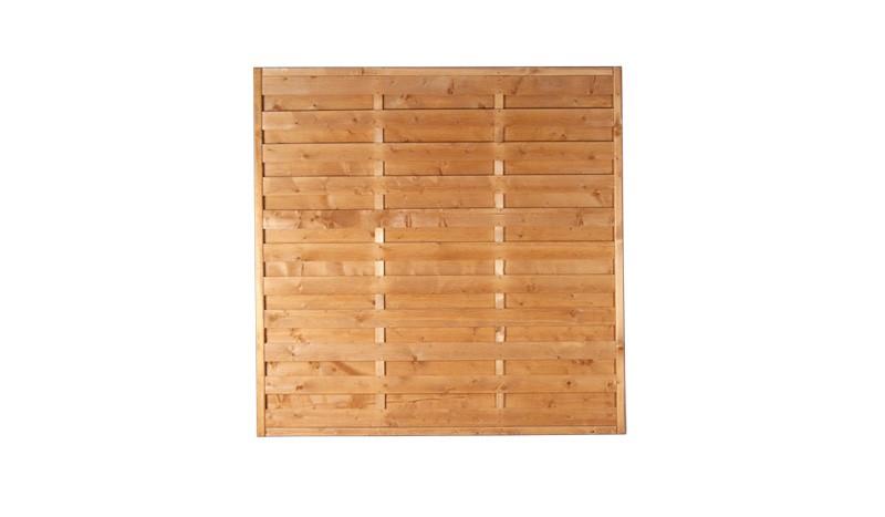 Sichtschutz Zaun Rostock 180x180cm mit fungizidem Holzschutz und Kiefer Lasur behandelt