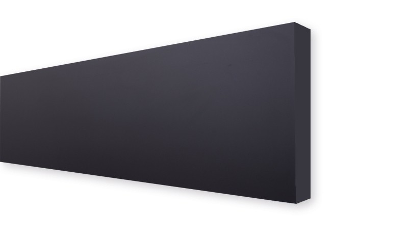 Die Lamellen in der Farbe anthrazit bestehen aus langlebigem HPL (High Pressure Laminate) für den Außenbereich. Maß: 179,2 x 32,9 x 0,6 cm.