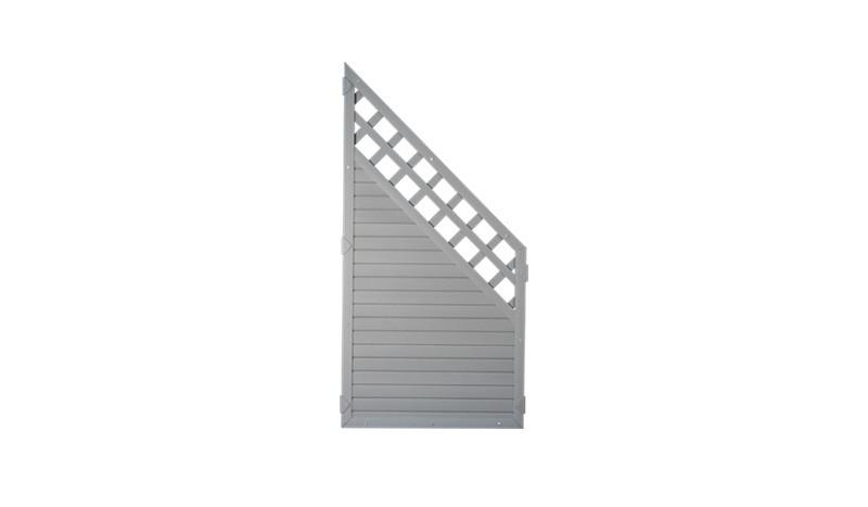 Kunststoffzaun günstig: Die Lightline Serie mit Rankgitter - grau, 90 x 180 auf 90cm