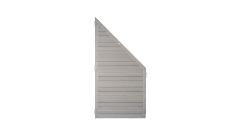 Kunststoffzaun Sichtschutz Lightline in grau, 90 x 180 auf 90cm