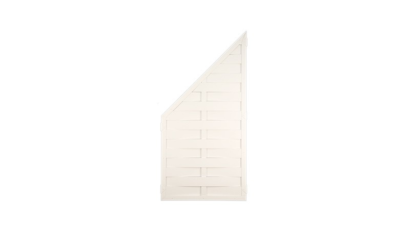 Kunststoff Dichtzaun in weiß, hier der Zaunabschluß, beidseitig verwendbar, mit den Maßen 90 x 180 auf 90cm