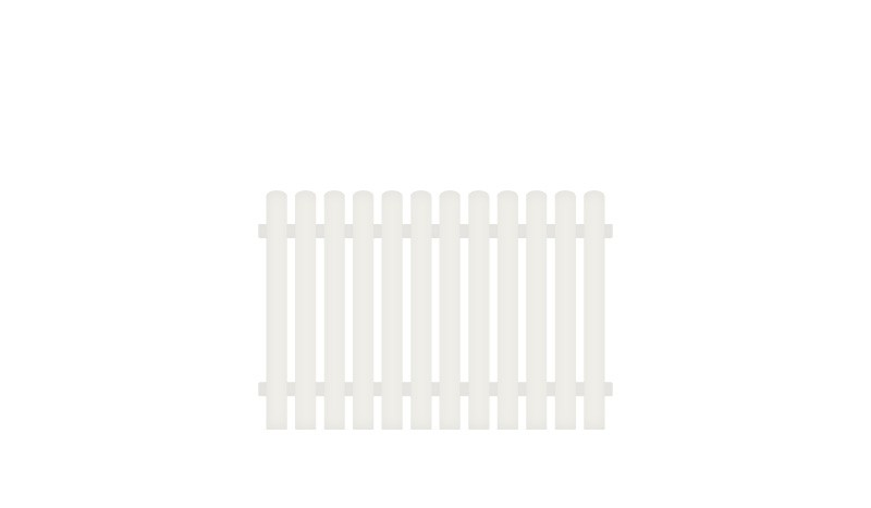 Kunststoff Gartenzaun mit Vollkunstofflatten und Aluminiumquerriegel. Kauf auf Rechung und Lieferung bis an die Haustür. inkl. Montageset und Bohrer