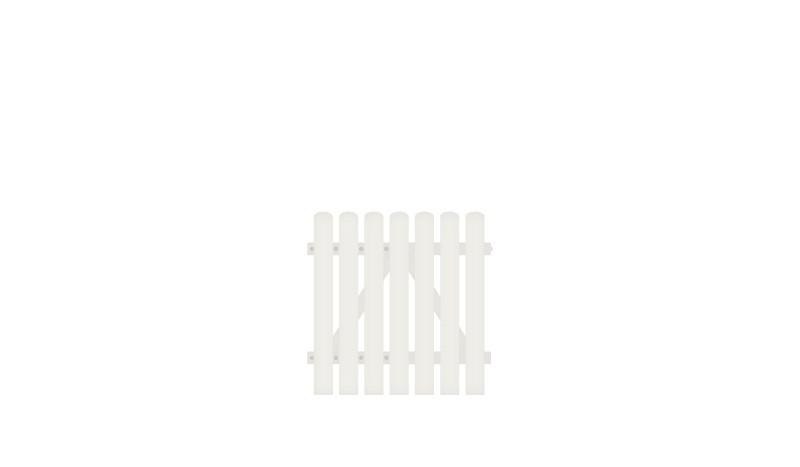 Einzeltor mit 10 Jahren Garantie auf UV-Beständigkeit. DIN-R, inkl. verstellbare Edelstahlbeschläge (6mm starke Ladenbänder vormontiert) und Überwurf