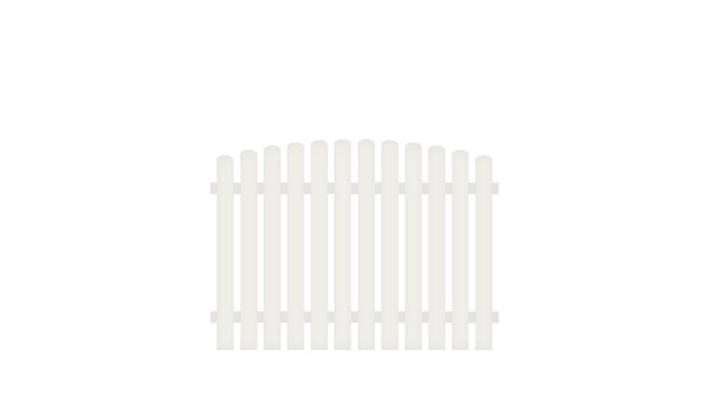 Vollkunstofflatten und Aluminiumquerriegel, 180 x 120 auf 130 cm, weiß (RAL 9016), Edelstahl verschraubt, inkl. Montageset und Bohrer