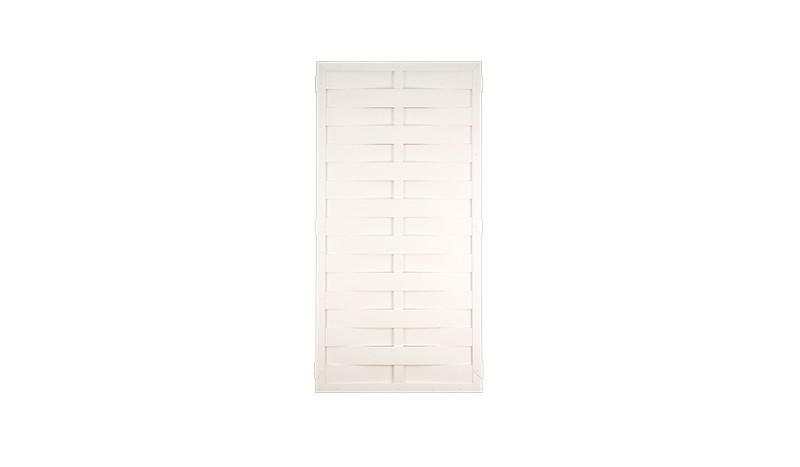 Der weiße Kunststoff Dichtzaun in 90 x 180cm ist sehr pflegeleicht und schützt Ihre Privatsphäre vor fremden Blicken