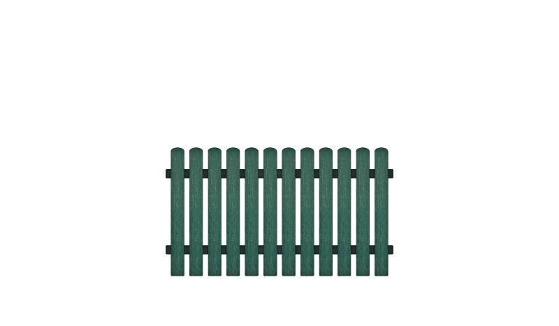 Vollkunstofflatten und Aluminiumquerriegel, 180 x 100 cm, grün (RAL 6012), Edelstahl verschraubt, inkl. Montageset und Bohrer