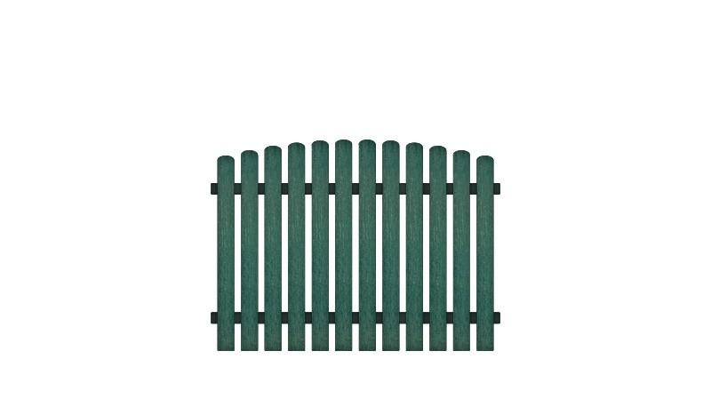 Kunststoffgartenzäune aus pflegeleichten Vollkunstofflatten und Aluminiumquerriegel, inkl. Montageset und Bohrer