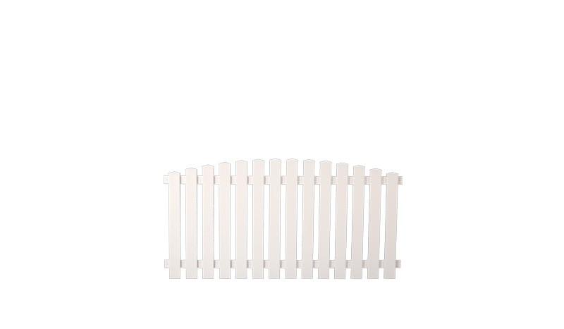 Kunststoffgartenzaeune Lightline 180 x 80 auf 90cm, weiß