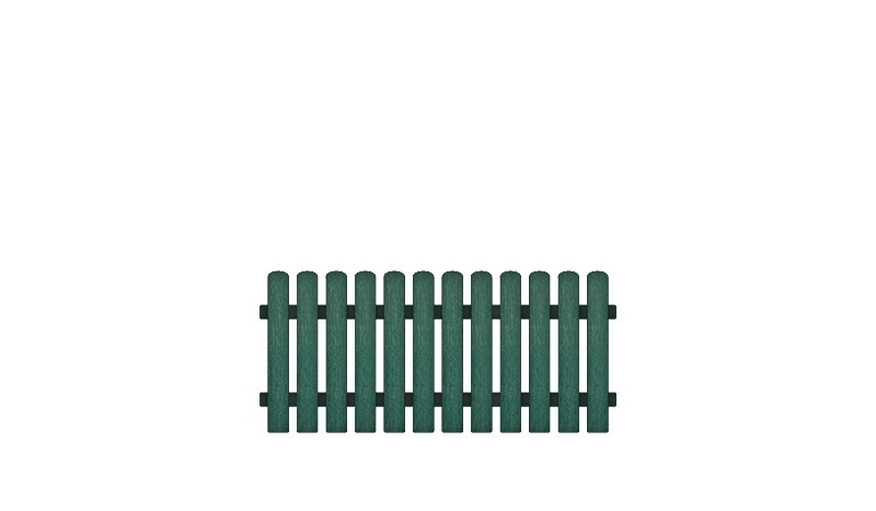 Pflegeleiche Kunststoffgartenzäune bestehend aus Vollkunstofflatten und Aluminiumquerriegel, Edelstahl verschraubt, inkl. Montageset und Bohrer