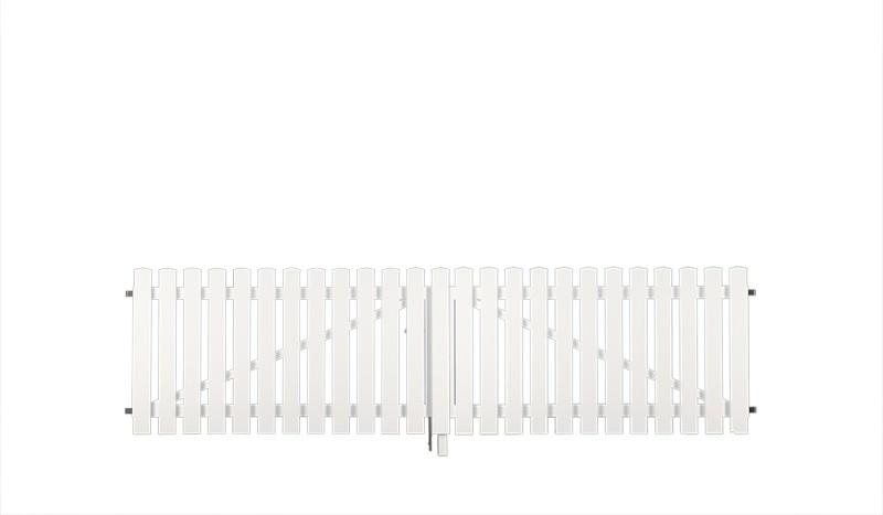 Doppeltor für die Kunststoff Gartenzaun-Serie München mit einer Breite von 300 cm