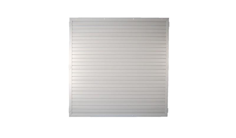 Lightline Kunststoffzaeune in grau, 180 x 180cm
