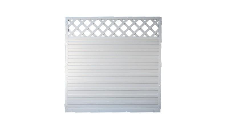 Kunststoffzäune die günstig sind: Lightline mit Rankgitter in grau, 180 x 180cm