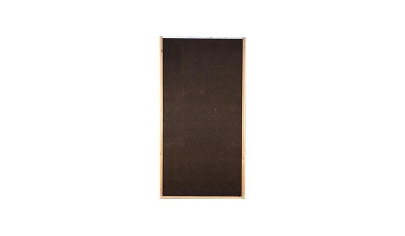 Lärmschutzwand aus hydrophobierten Holzfaserplatten. Rohdichte: 260 kg/m3