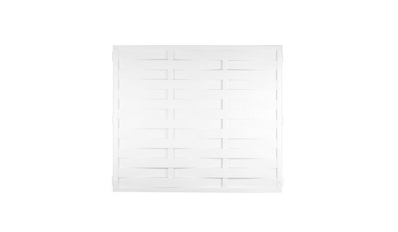 Kunststoff Lamellenzäune mit dem Maß 150 x 180cm in weiß - nie wieder Streichen!