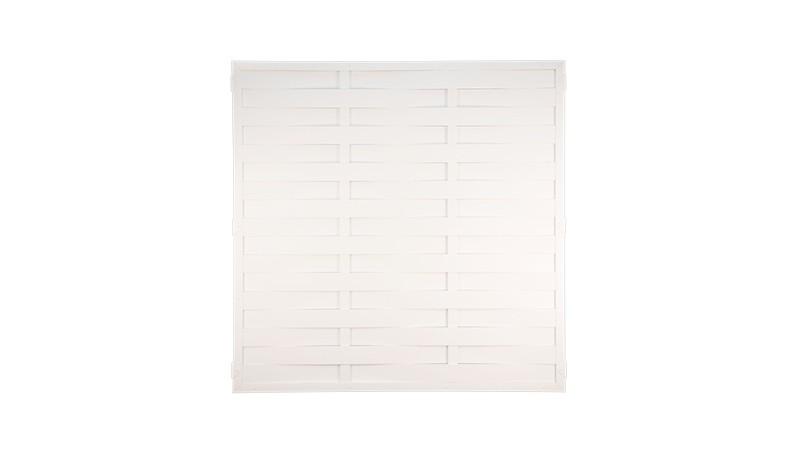Kunststoff Lamellenzaun mit dem Maß 180 x 180cm in weiß - nie wieder Streichen!