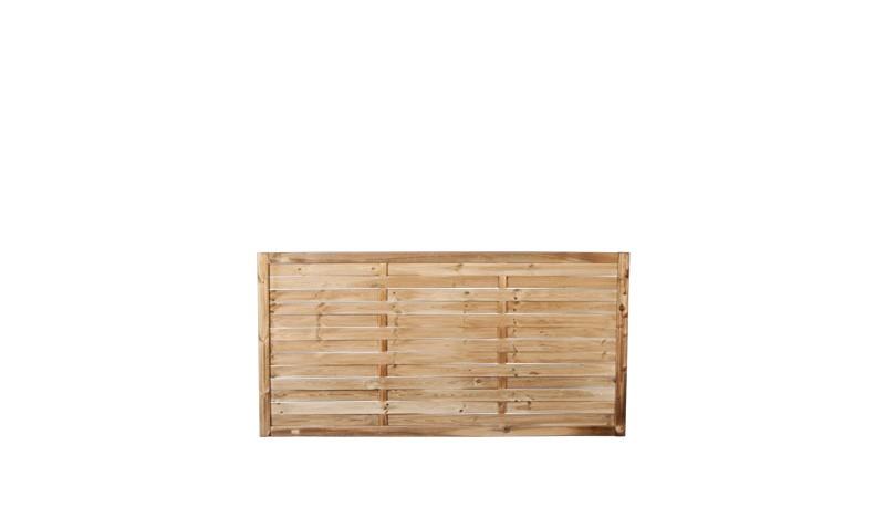 Ein Gartenzaunelement mit einer Rahmenstärke von 45 x 70 mm und eienm Maß  von: 180 x 90cm