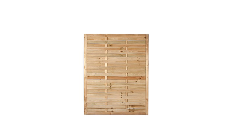 Ein verkürztes Sichtschutzelement mit einem Maß von: 120 x 150cm aus druckimprägniertem Holz