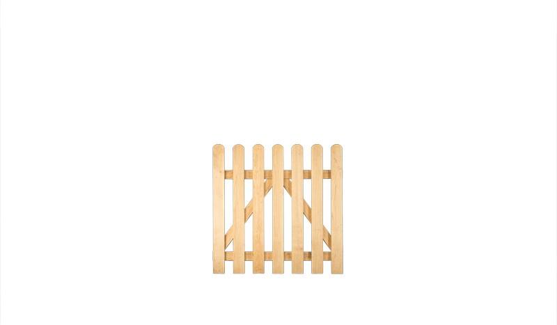 Lattenzaun Tor für die Gartenzaun-Serie Charlottenburg aus massiver Eiche gefertigt