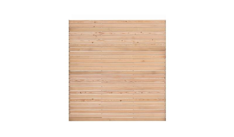 Steckzaunbausatz aus langlebiger sibirischer Lärche inkl. Aluminiumröhren. Maß: 180 x 180 cm