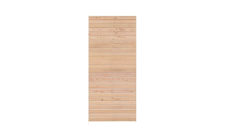 Bausatz für ein Livo-Steckzaunelement 81,5 x 180 cm, sibirische Lärche. Auch als Torfüllung verwendbar
