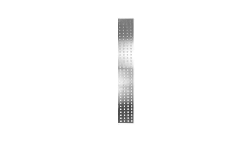 Lochblech für unsere Terrassenabtrennung Wyk - Maße: 25 x 179 x 0,1 cm
