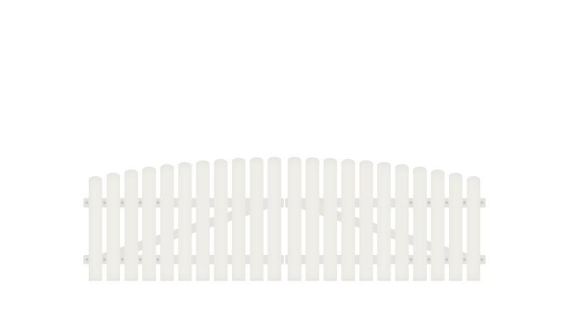 Wetterfestes Kunststoff Doppeltor aus Vollkunstofflatten auf Aluminiumrahmen, 308 x 80 auf 95 cm, weiß (RAL 9016), inkl. verstellbare Edelstahlbeschläge (6mm starke Ladenbänder vormontiert), Überwurf, Bodenriegel, Metallhülsen und Arretierung.