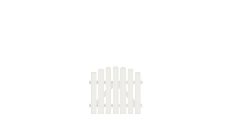 Pflegeleichtes Kunstsoff Einzeltor aus Vollkunstofflatten auf Aluminiumrahmen, 100 x 80 auf 90 cm, weiß (RAL 9016)