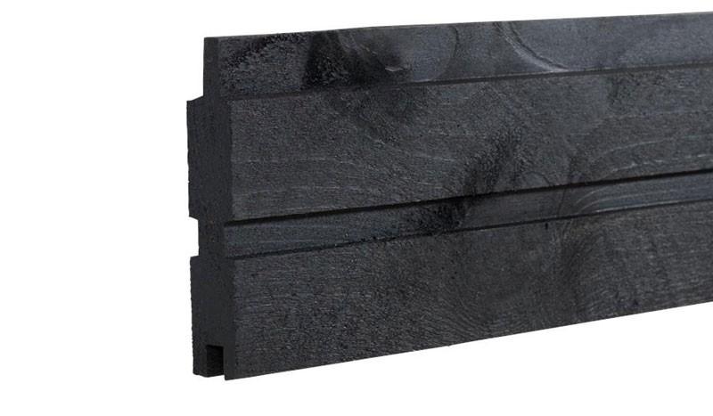 Das druckimprägnierte Profilbrett Plank in der Farbe Anthrazit mit dem Maß: 25 x 140 mm x 177 cm.