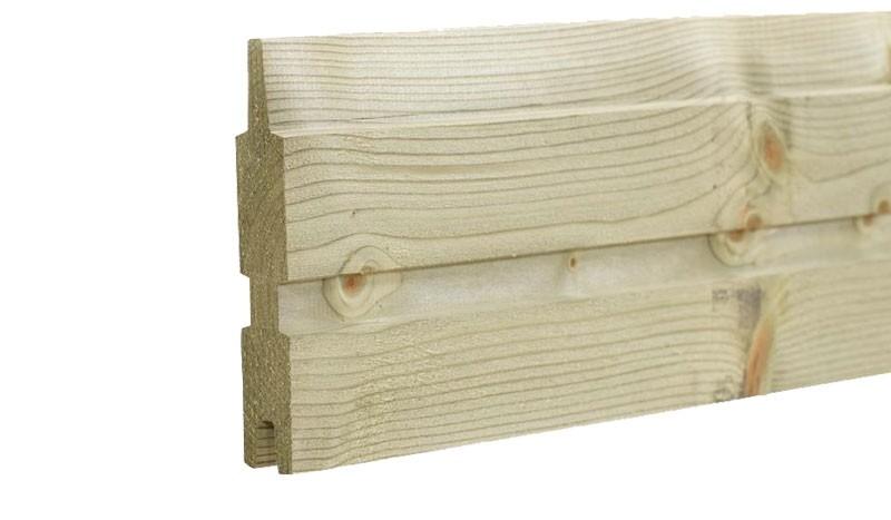 Das druckimprägnierte Profilbrett Plank mit dem Maß: 25 x 140 mm x 177 cm.