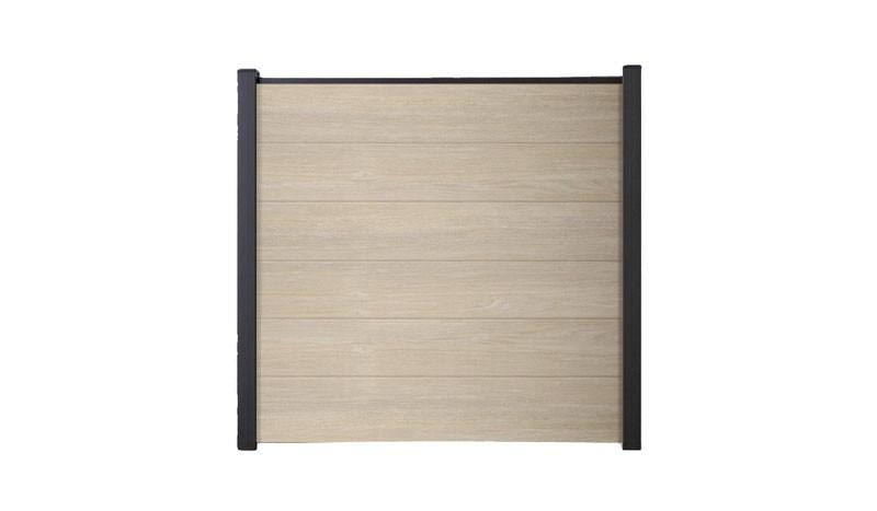 Kompletter Bausatz bestehend aus robusten PVC Lamellen und passender Abschlussleiste. Holzdekor: Sheffield Oak