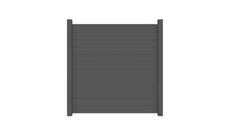 Der Alu Steckzaun Randers hat die Abmessung von 180 x 180 x 2 cm. Die Farbe ist Anthrazitgrau. Pfosten + Abschlussprofil NICHT im Lieferumfang enthalten