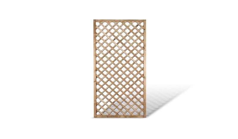 Holz Rankzaun 90x180cm. Druckimprägnierte Kiefer. Rankgitter Maschenweite: ca. 6 x 6cm