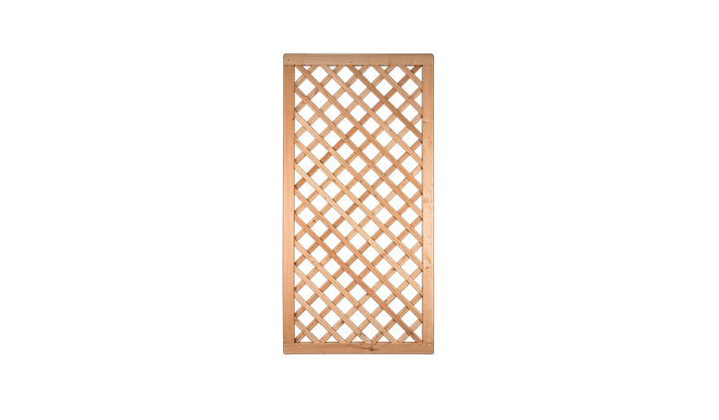 Rankgitter mit 90 x 180cm aus feinster sibirischer Lärche, Edelstahl geklammert