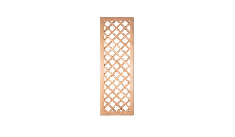 60 x 180cm Rankgitter aus dem Holz der sibirischen Lärche, Edelstahl geklammert