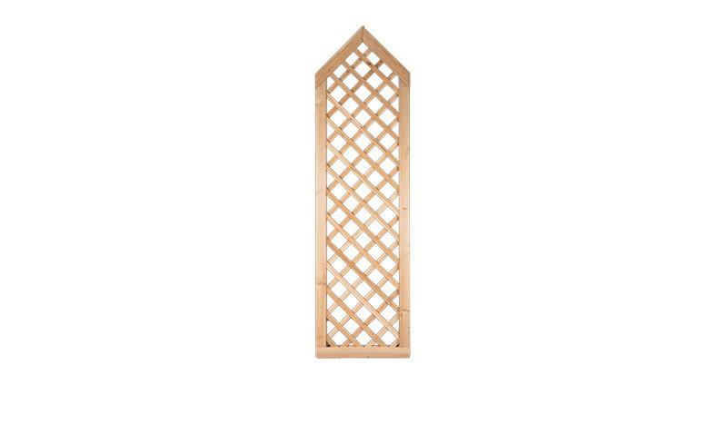 Die Rankgitter Zäune aus sibrischer Lärche mit einem Maß von 60 x 210 auf 180cm eignen sich ideal um die Zäune der Serien Softline oder Klassik zu ergänzen