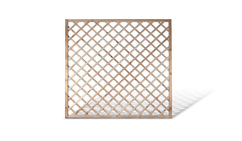Rosen Rankzaun Holzelement. 180x180cm. Druckimprägnierte Kiefer. 10x10cm Maschenweite