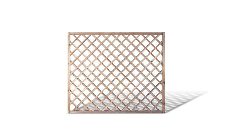 Rankgitter Zaun aus druckimprägniertem Kieferholz. 180x150cm mit 10x10cm Maschenweite