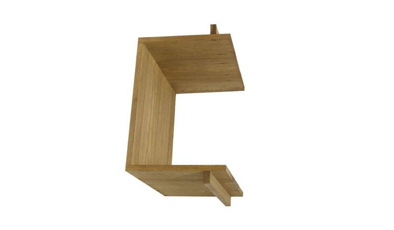 Regal  mit den Maßen 36 x 24x 36 / 41cm, das in das Warschau Weidengeflechtsystem geschraubt werden kann, die Seiten dieses Regals sind offen, so dass man von beiden Seiten reinschauen kann.